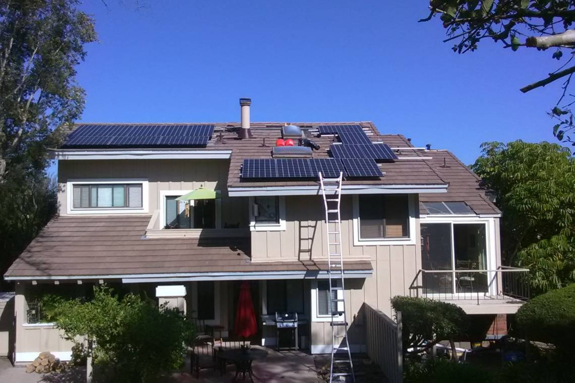 Sierra Madre solar panel installation