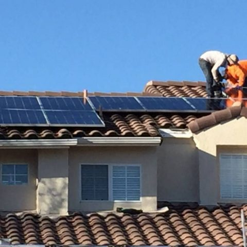 West hills solar installation